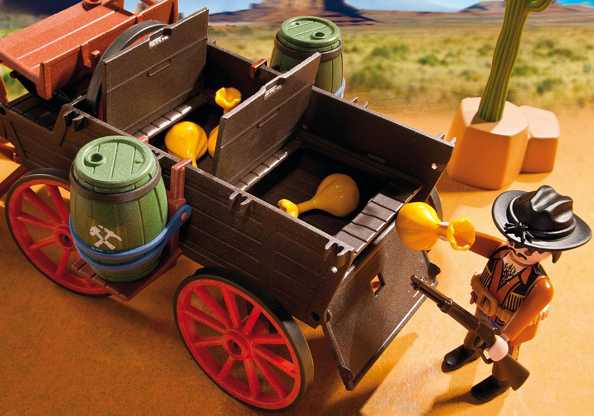 5248 Chariot avec cow-boys et bandits zoom image6