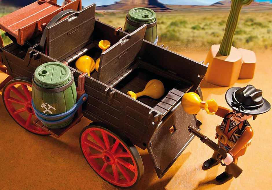 5248 Covered Wagon with Raiders detail image 6