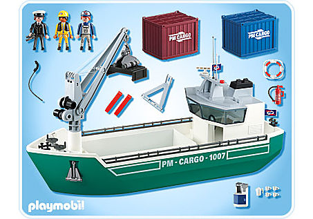 5253-A Frachtschiff mit Verladekran detail image 2