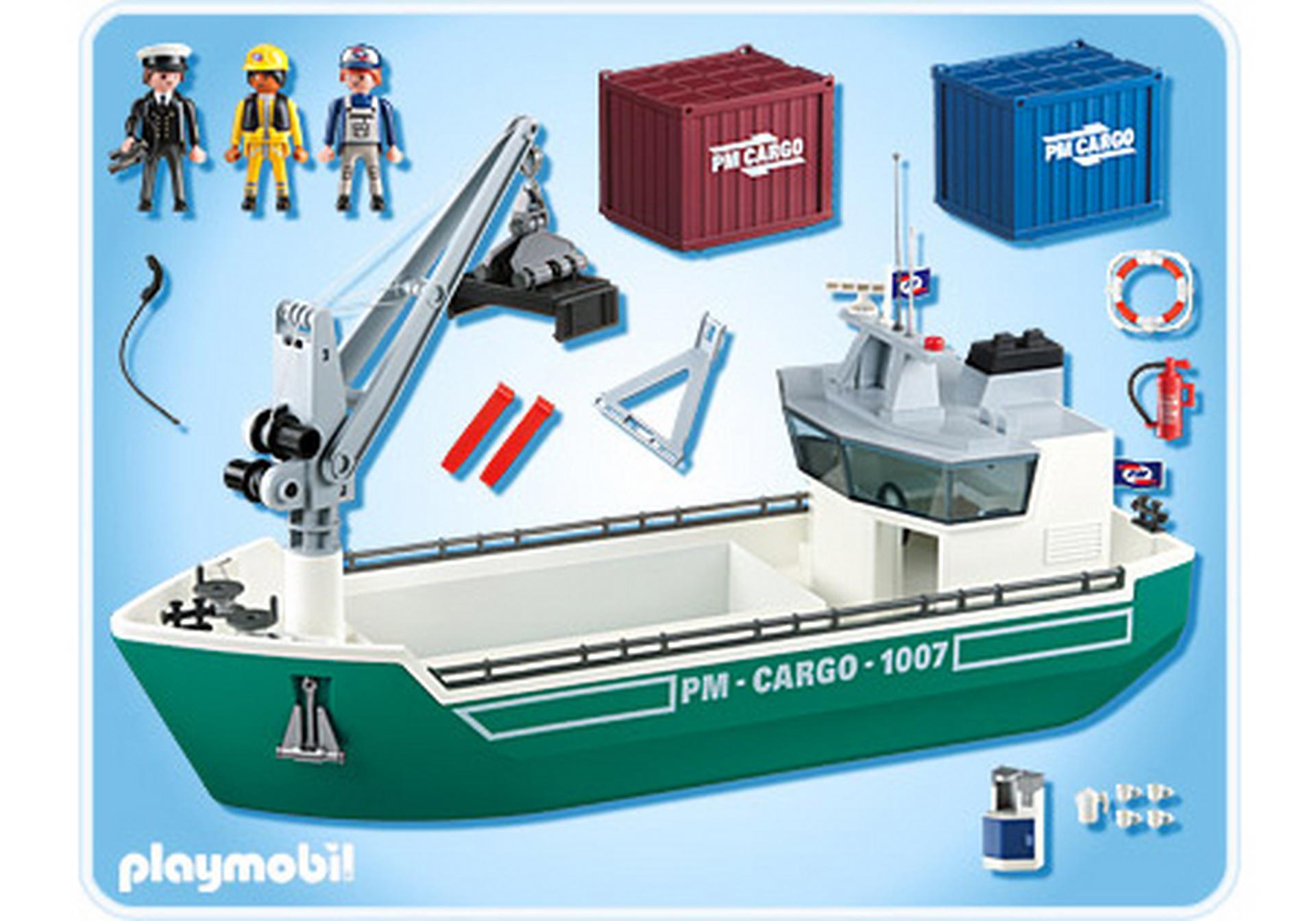 Frachtschiff Mit Verladekran 5253 A Playmobil Deutschland