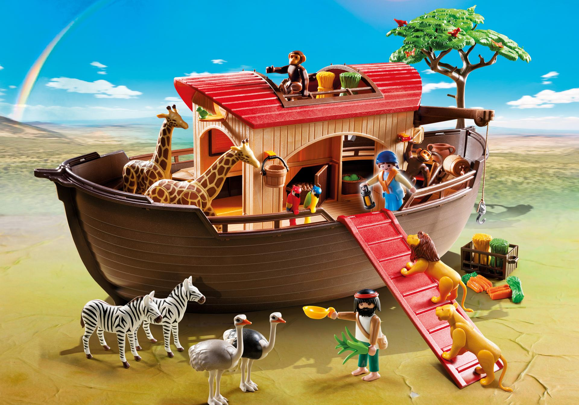 arche de no avec animaux de la savane 5276 a playmobil suisse. Black Bedroom Furniture Sets. Home Design Ideas
