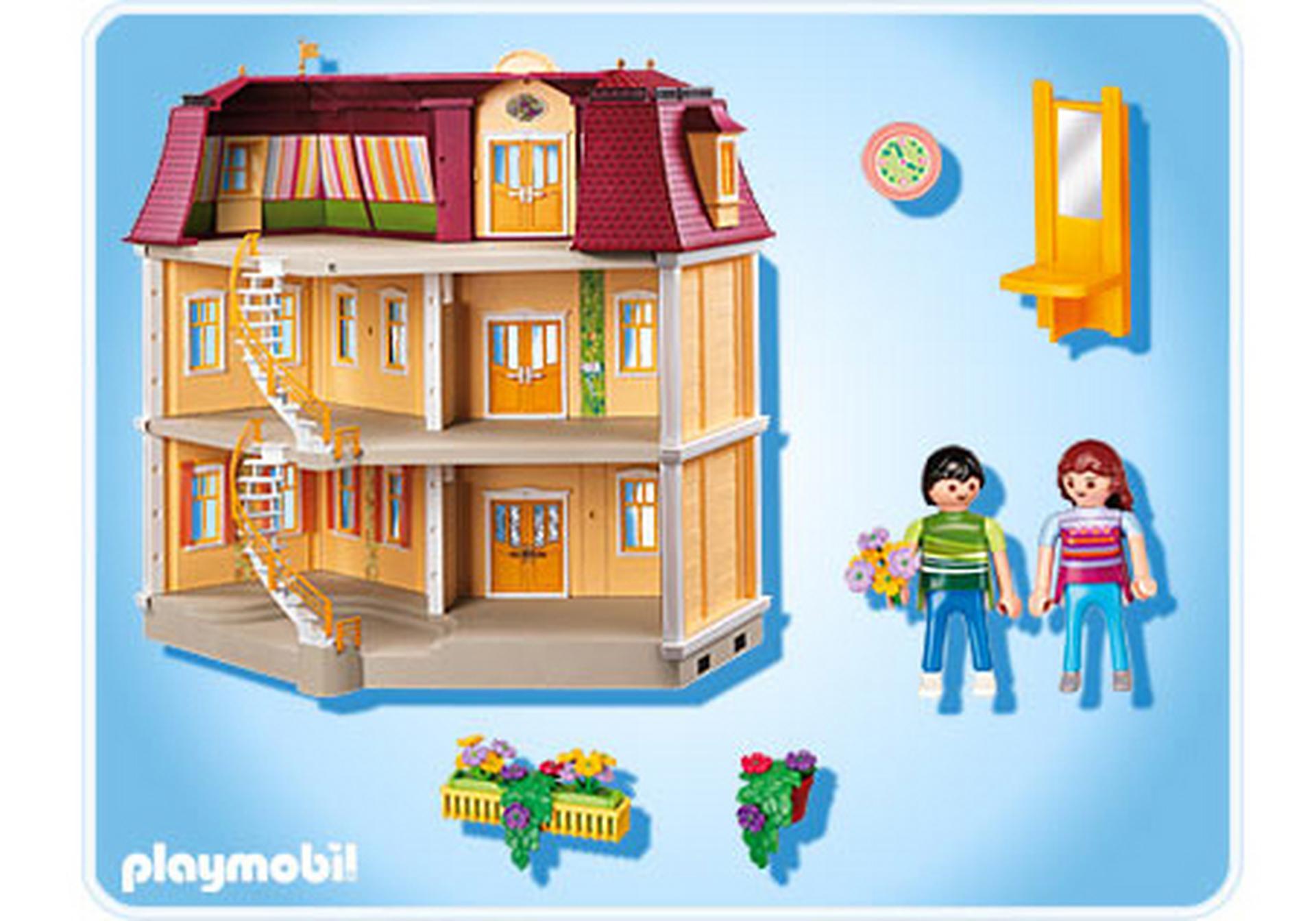 maison de ville 5302 a playmobil france. Black Bedroom Furniture Sets. Home Design Ideas