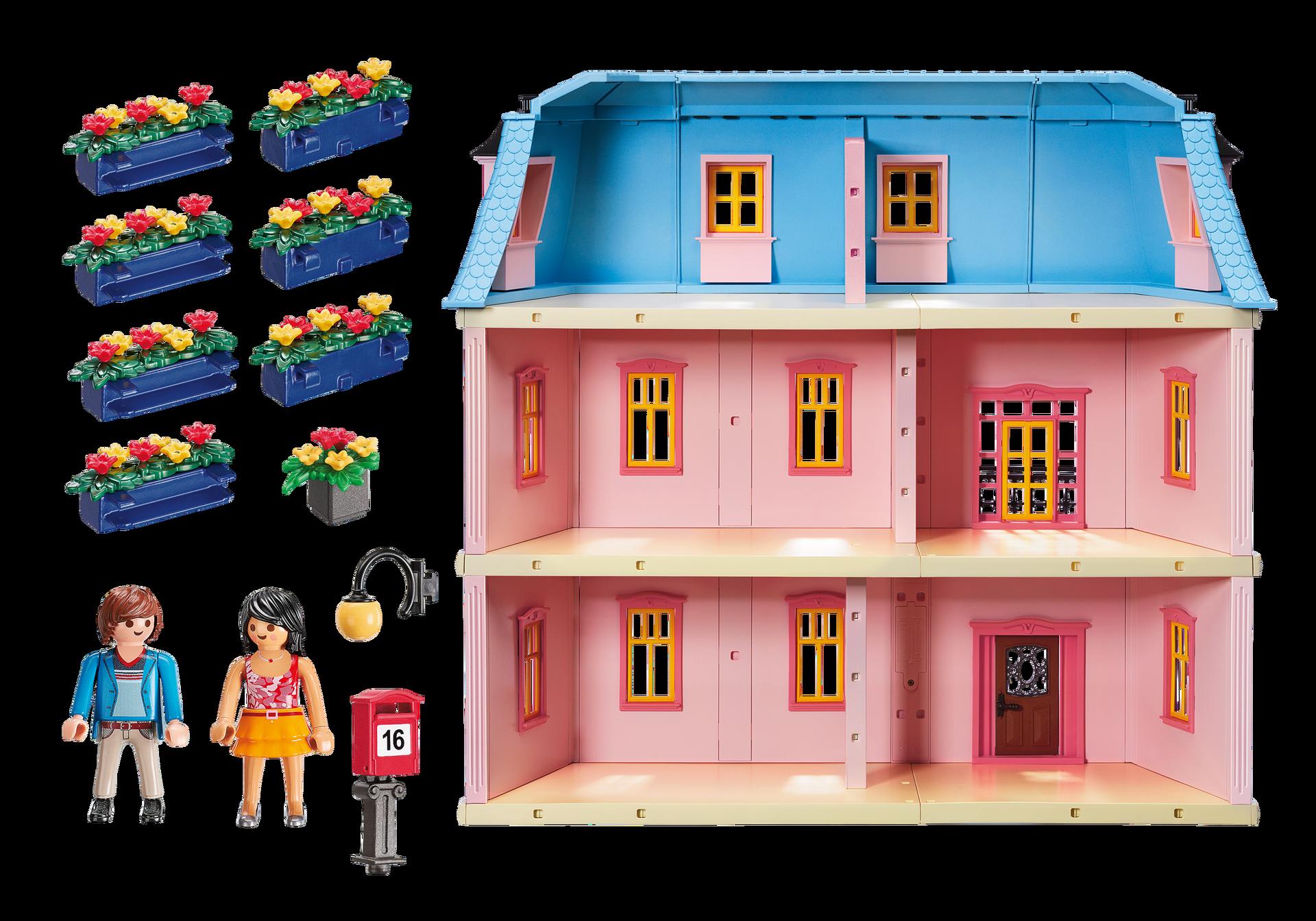 maison traditionnelle 5303 playmobil belgi. Black Bedroom Furniture Sets. Home Design Ideas
