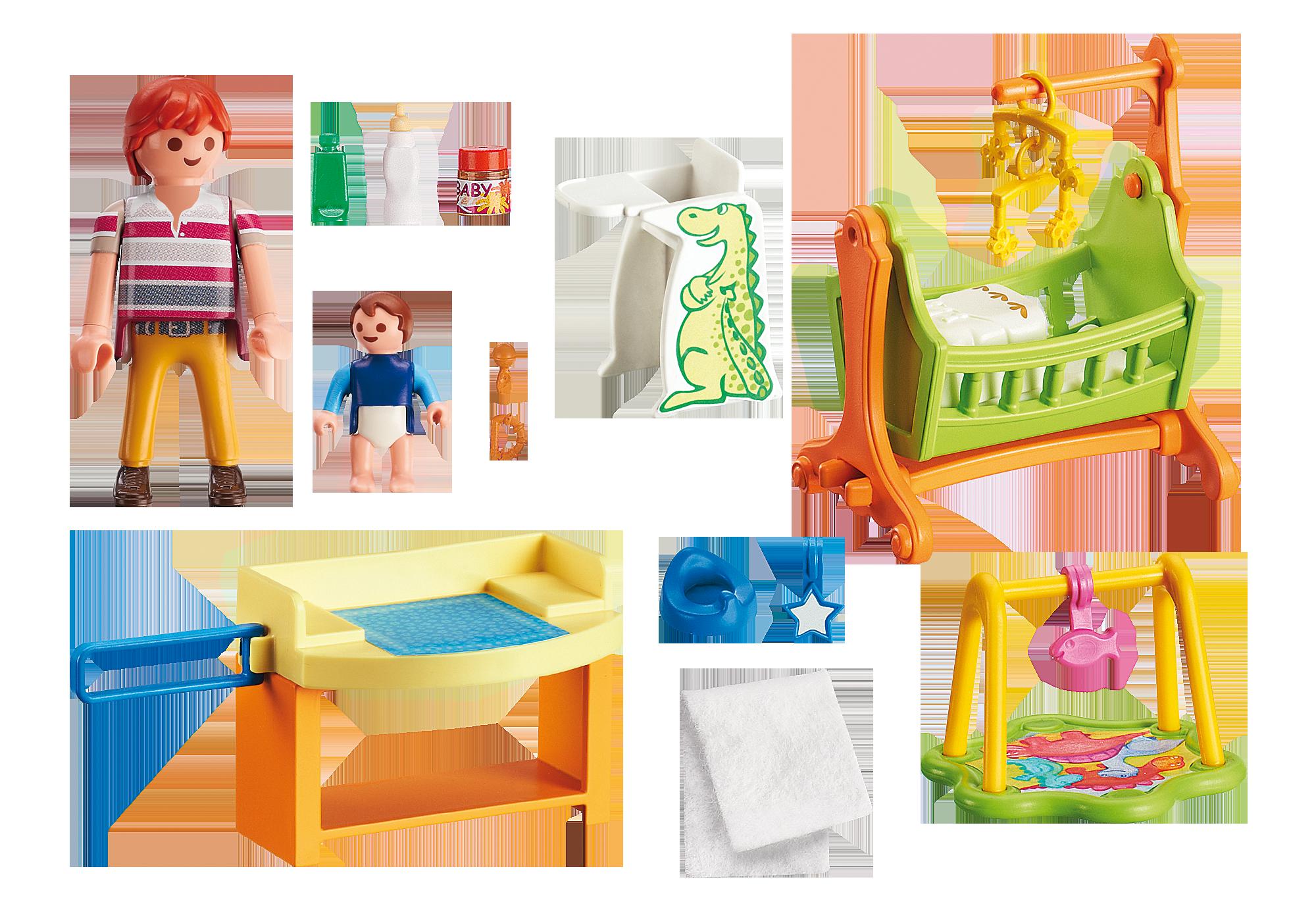 babyzimmer mit wiege - 5304 - playmobil® deutschland