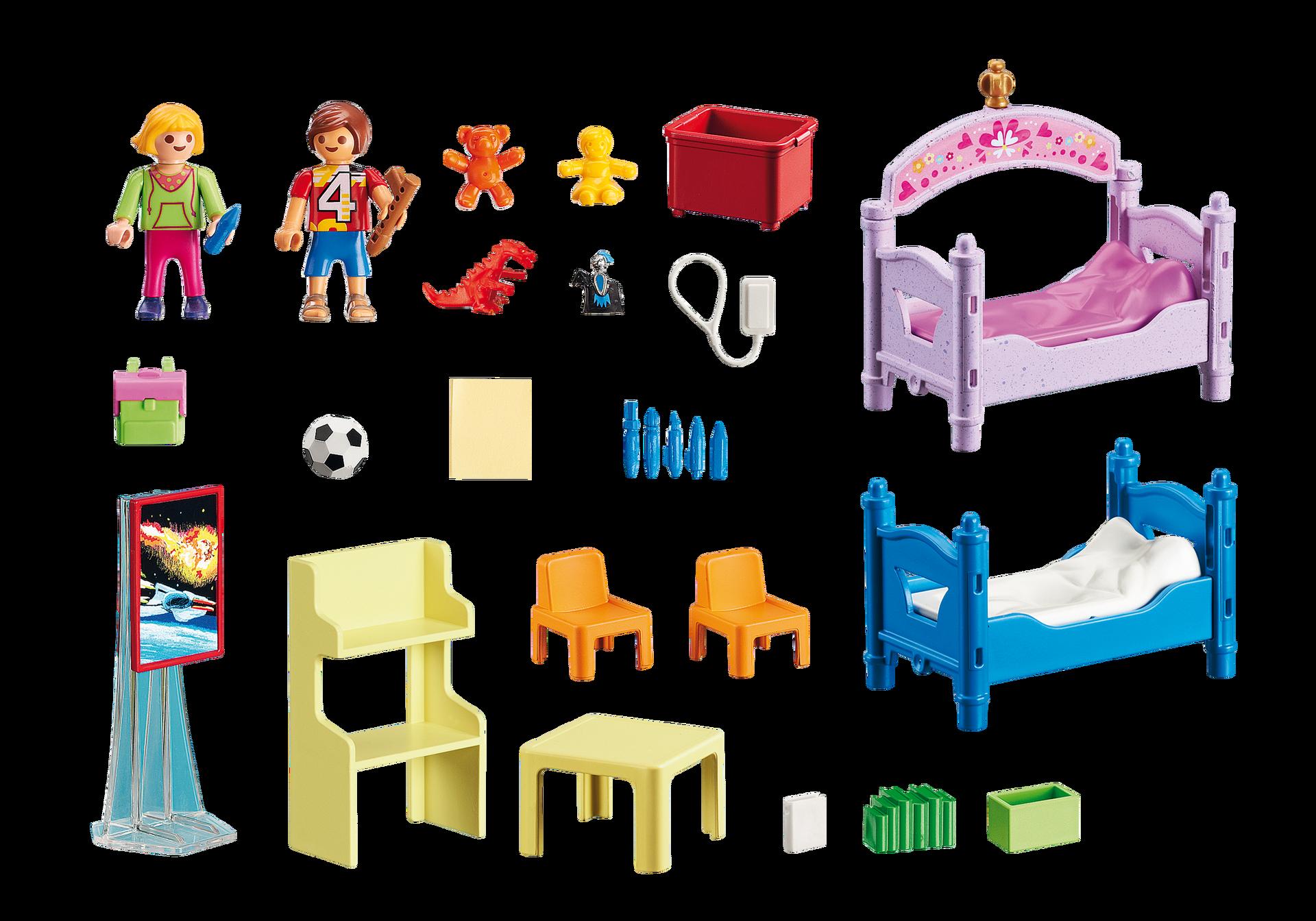 chambre d 39 enfants avec lits superpos s 5306 playmobil france. Black Bedroom Furniture Sets. Home Design Ideas