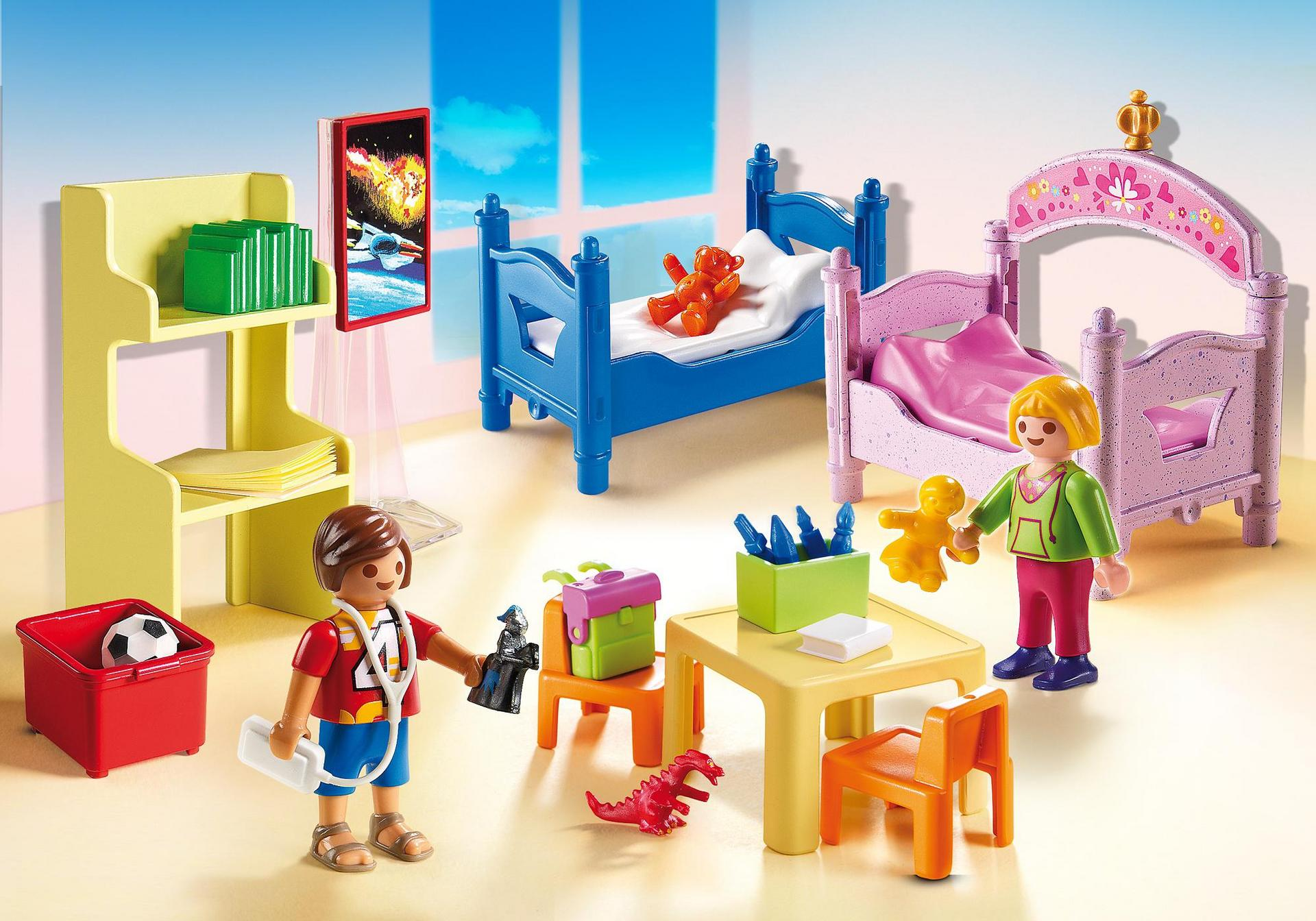 chambre d 39 enfants avec lits superpos s 5306 playmobil. Black Bedroom Furniture Sets. Home Design Ideas
