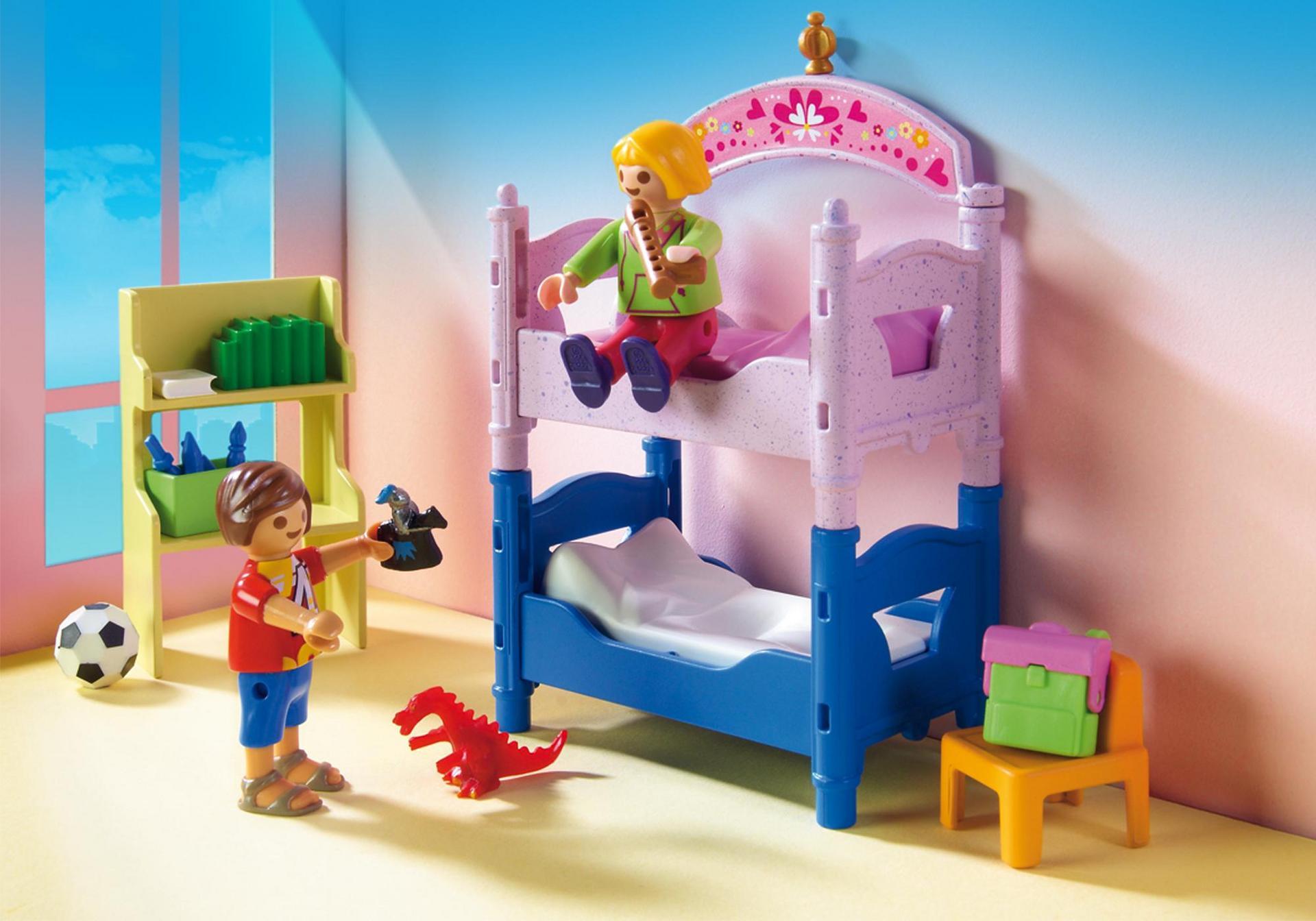 Chambre d 39 enfants avec lits superpos s 5306 playmobil for Playmobil chambre enfant