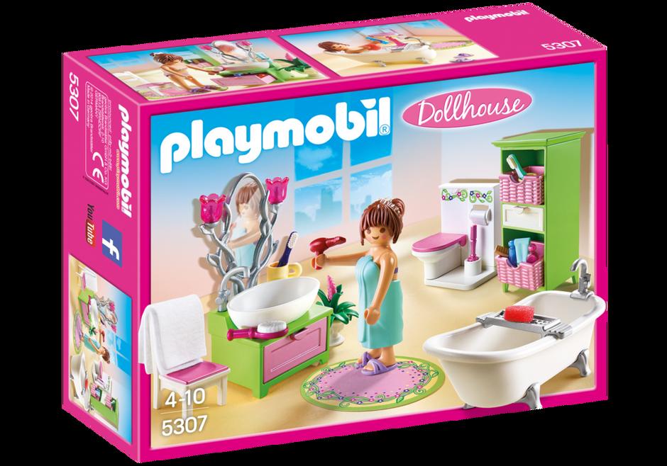 Salle de bains et baignoire 5307 playmobil france for Salle bain playmobil