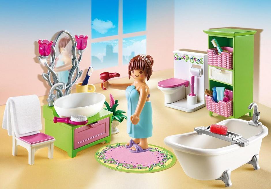 Badkamer met bad op pootjes - 5307 - PLAYMOBIL® Nederland