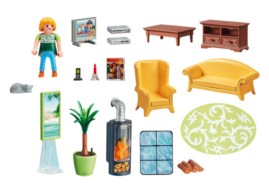 Living Room with Fireplace - 5308 - PLAYMOBIL® USA