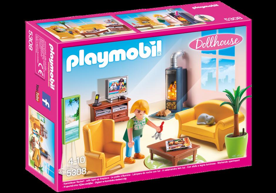 woonkamer met houtkachel - 5308 - playmobil® nederland, Deco ideeën
