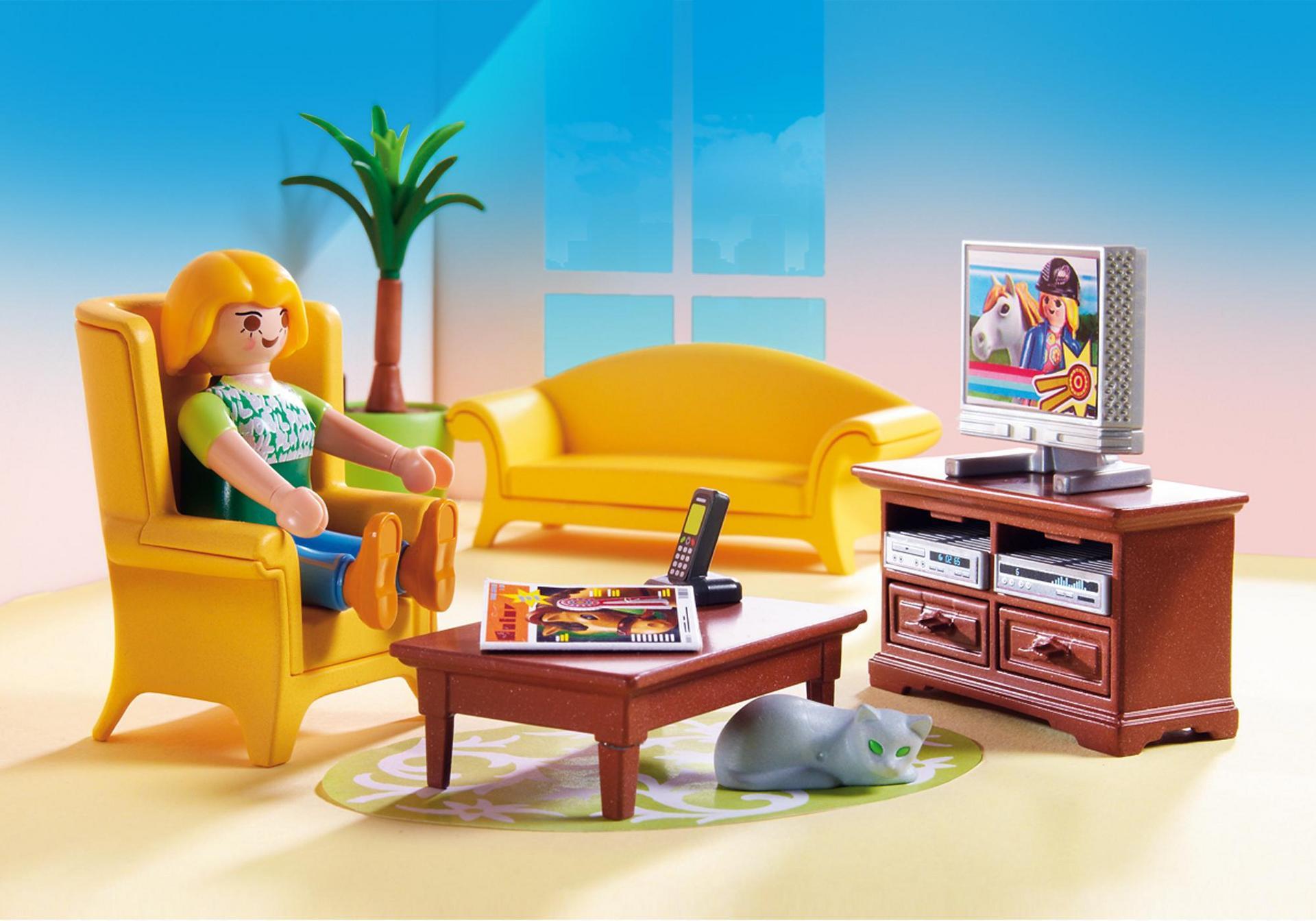 Wohnzimmer mit Kaminofen - 5308 - PLAYMOBIL® Deutschland