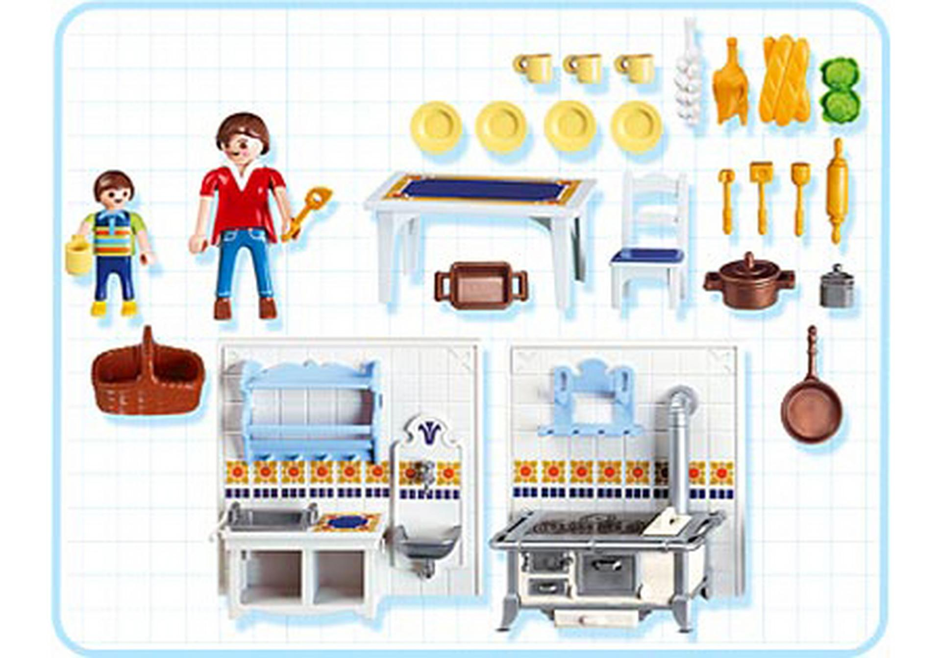 Famille cuisine traditionnelle 5317 a playmobil france for Article de cuisine en ligne