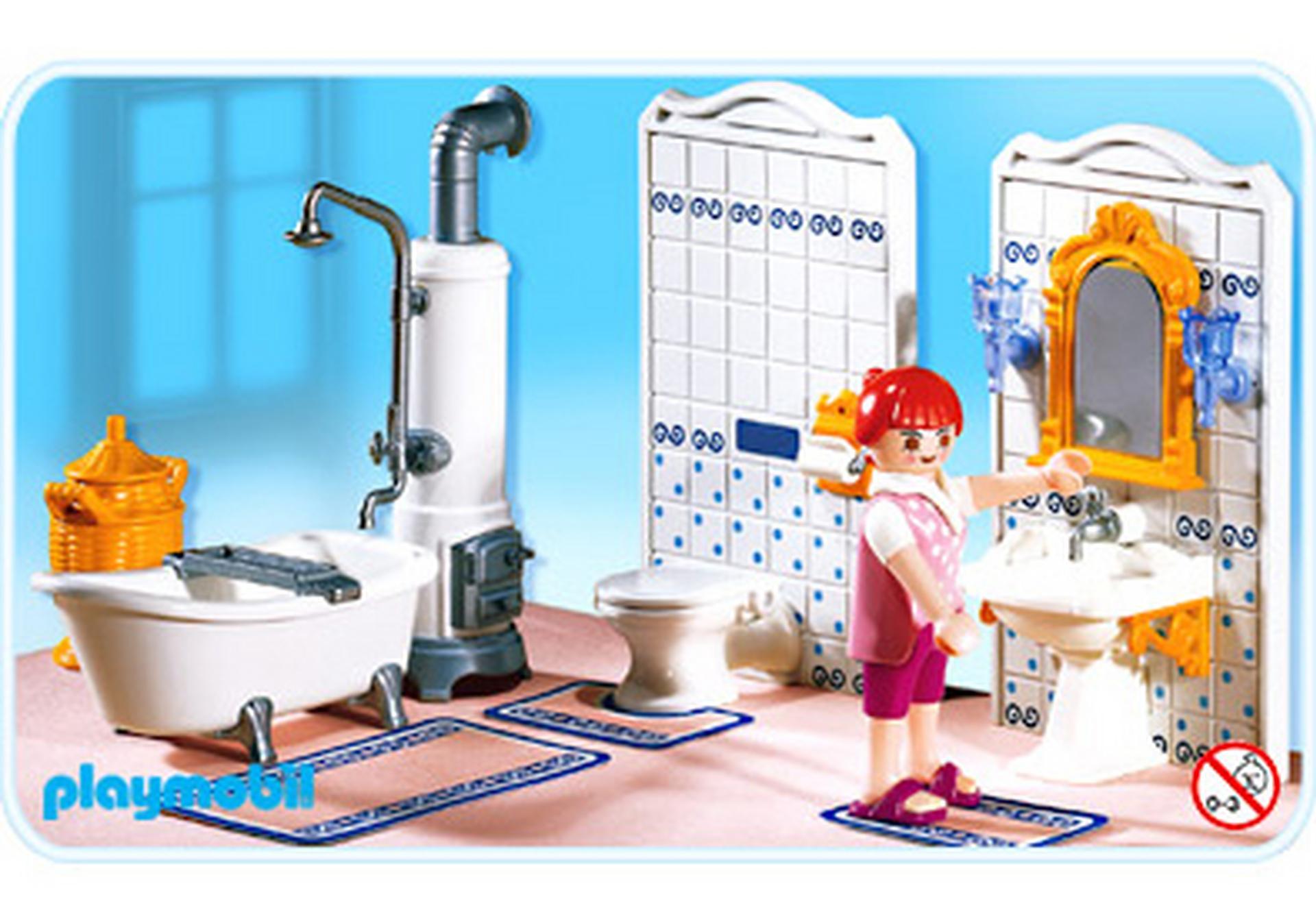 Maman salle de bains traditionnelle 5318 a playmobil for Salle de bain maison ancienne