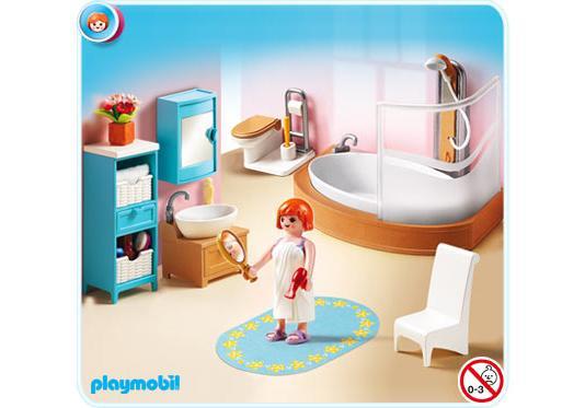 Salle de bains avec baignoire et pare douche 5330 a for Salle bain playmobil