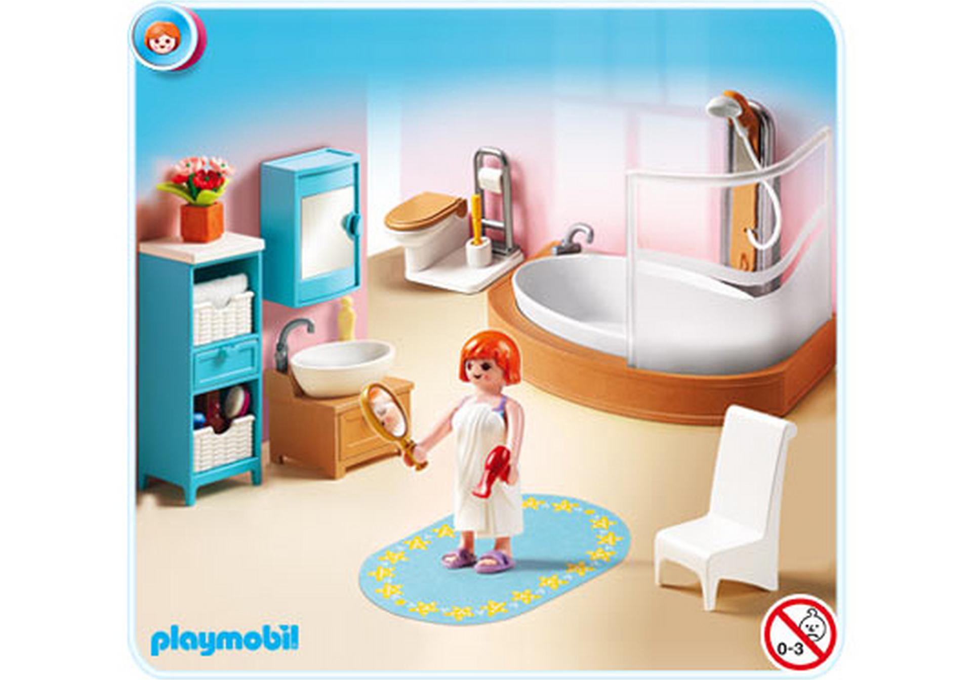 Salle de bains avec baignoire et pare douche 5330 a for Prix salle de bain playmobil