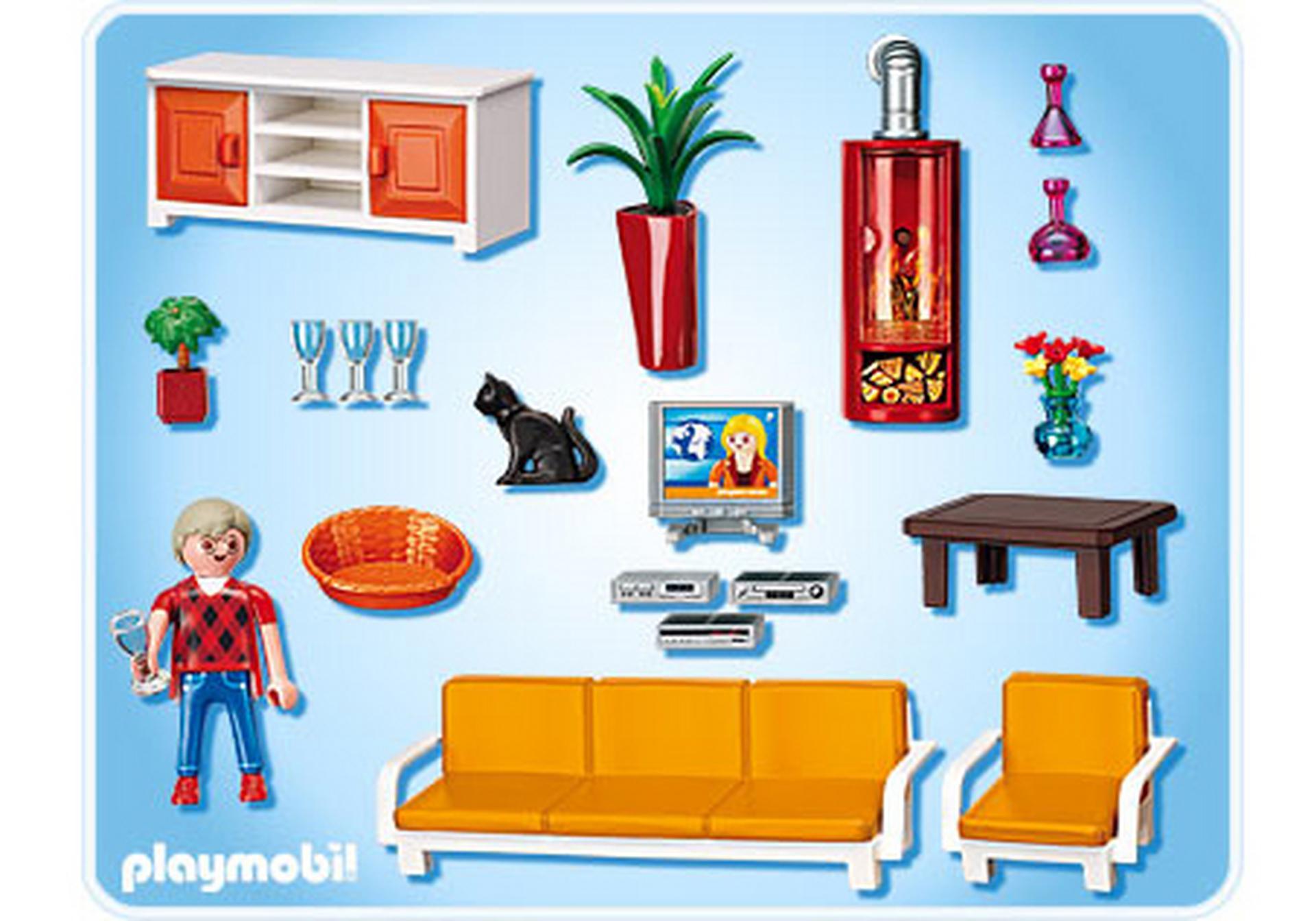 66 playmobil wohnzimmer mit kamin playmobil for Wohnzimmer 9267