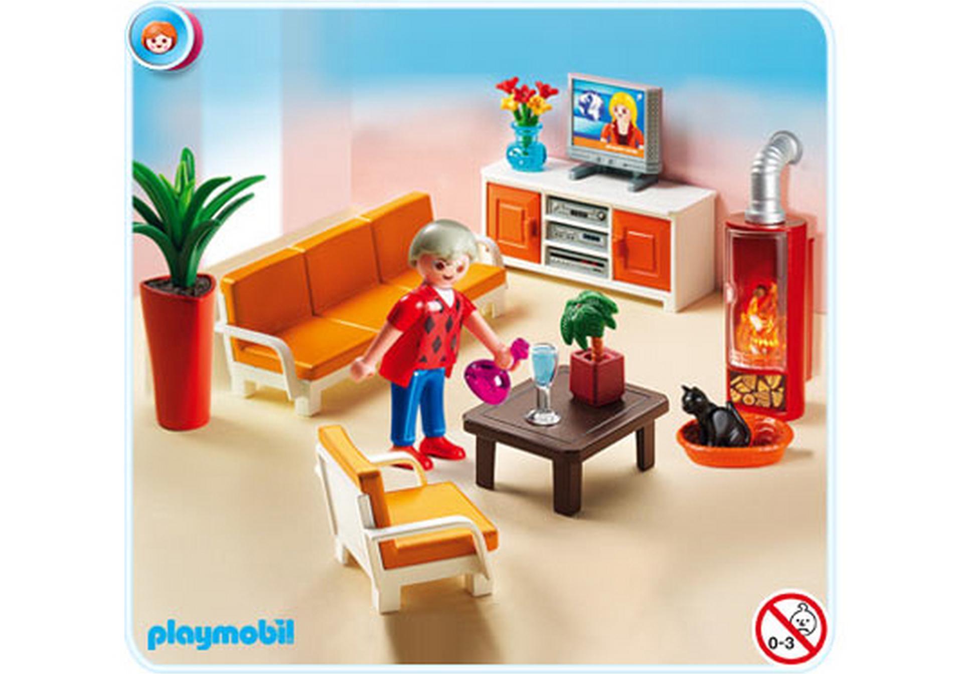 Salon avec chemin e 5332 a playmobil france - Playmobil wohnzimmer 5332 ...