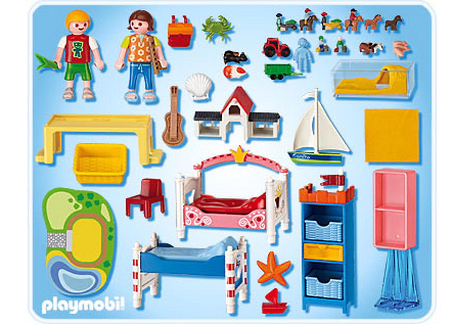 5333-A Chambre des enfants avec lits décorés zoom image2