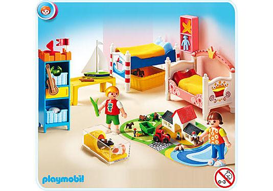 5333-A Chambre des enfants avec lits décorés detail image 1