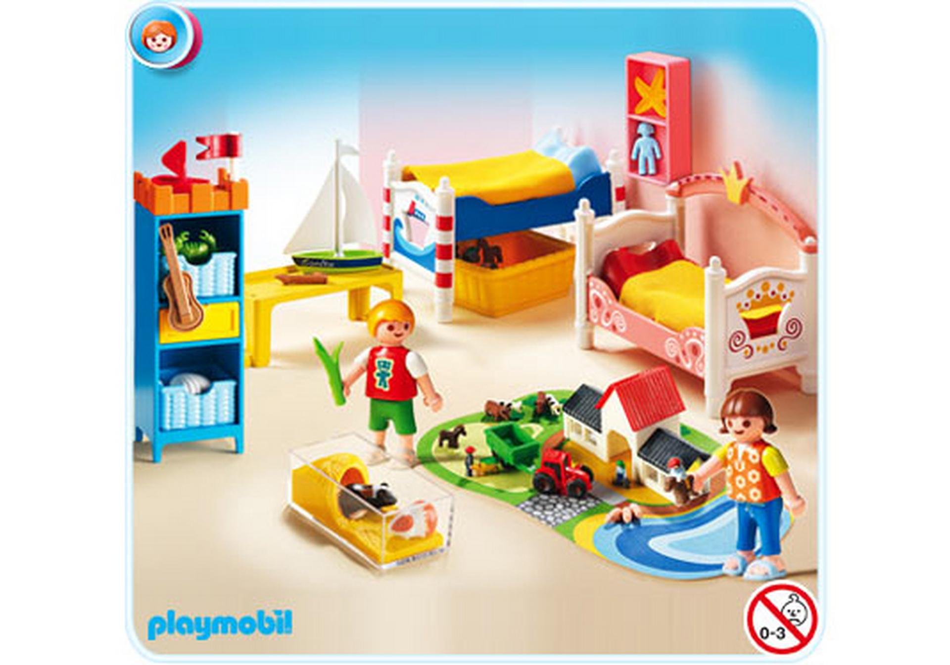 chambre des enfants avec lits d cor s 5333 a playmobil. Black Bedroom Furniture Sets. Home Design Ideas
