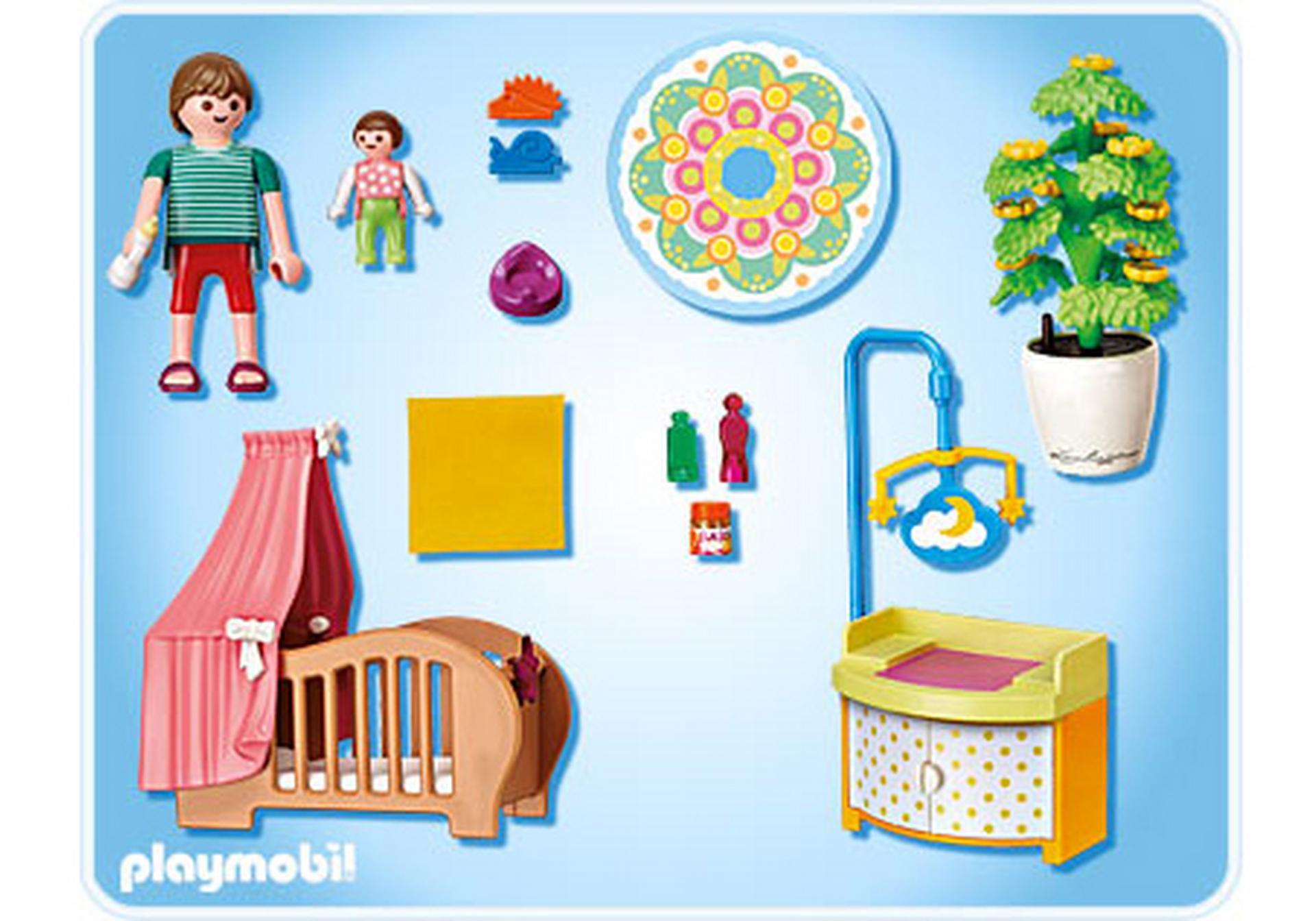 Chambre de b b avec berceau 5334 a playmobil france for Playmobil chambre enfant