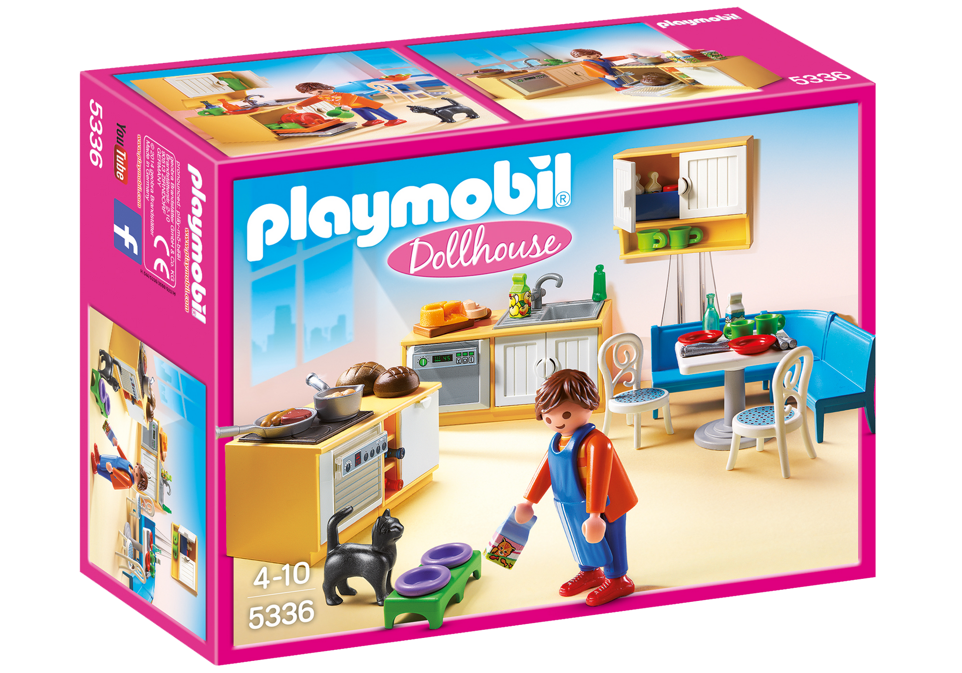 Cuisine avec coin repas 5336 playmobil france for Playmobil cuisine