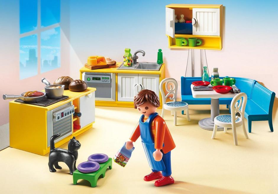 cuisine avec coin repas 5336 playmobil france. Black Bedroom Furniture Sets. Home Design Ideas