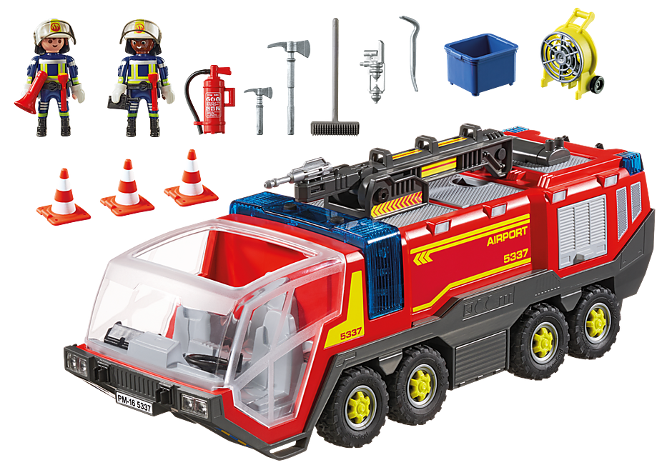 5337 Pojazd strażacki na lotnisku ze światłem detail image 4