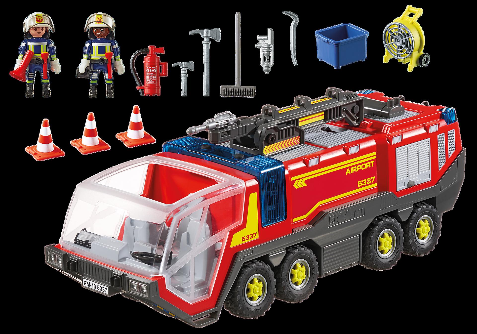 5337 Pojazd strażacki na lotnisku ze światłem zoom image4