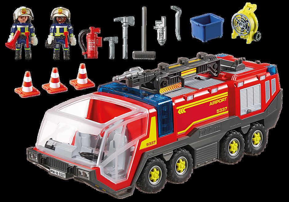 5337 Pompiers avec véhicule aéroportuaire detail image 4