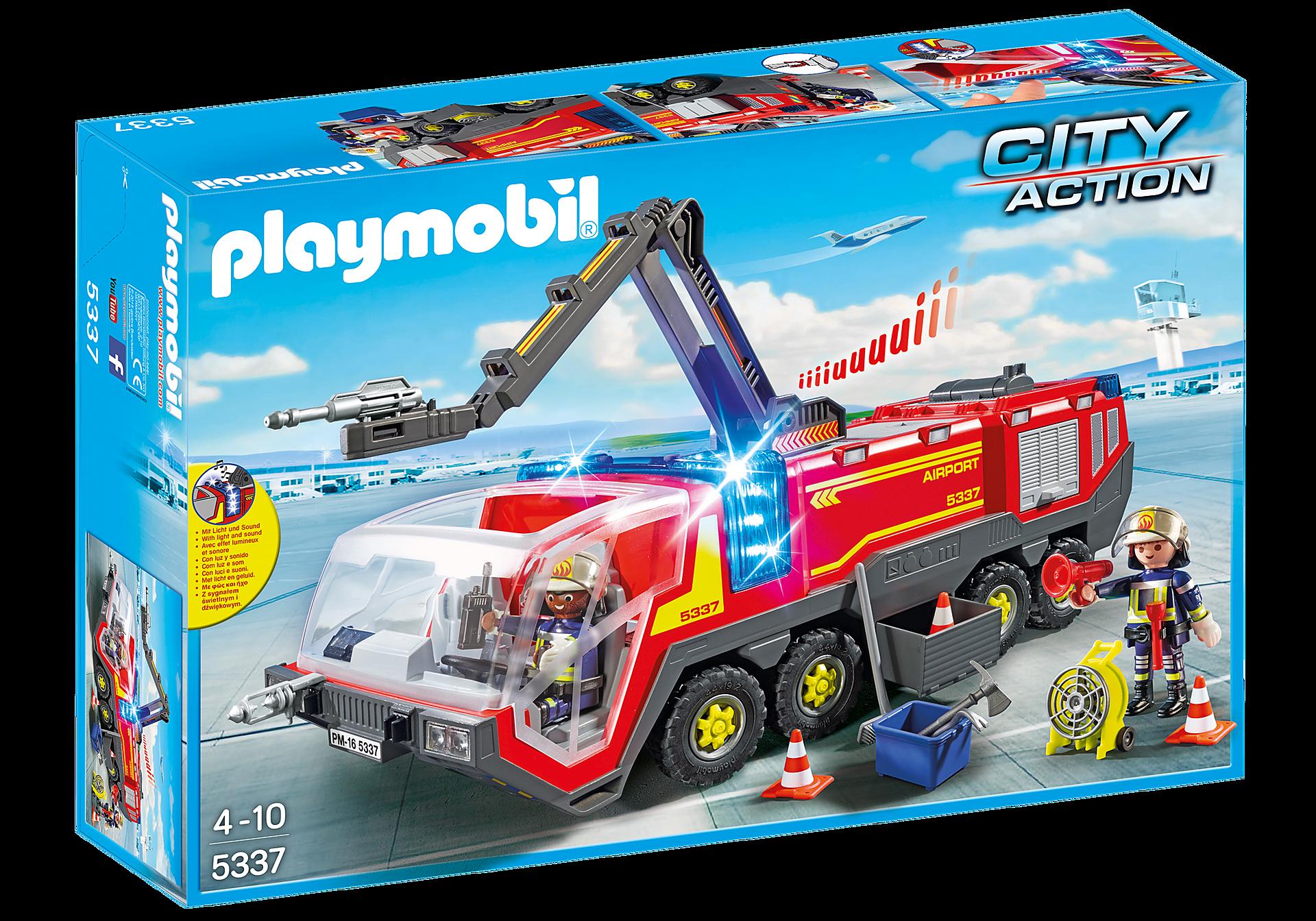 5337 Pompiers avec véhicule aéroportuaire zoom image3