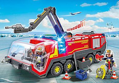 5337 Flygplatsbrandbil med ljus och ljud.
