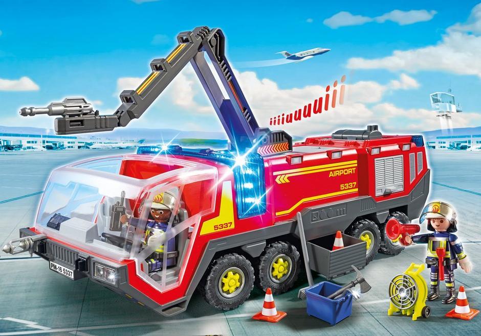 pompiers avec v hicule a roportuaire 5337 playmobil. Black Bedroom Furniture Sets. Home Design Ideas