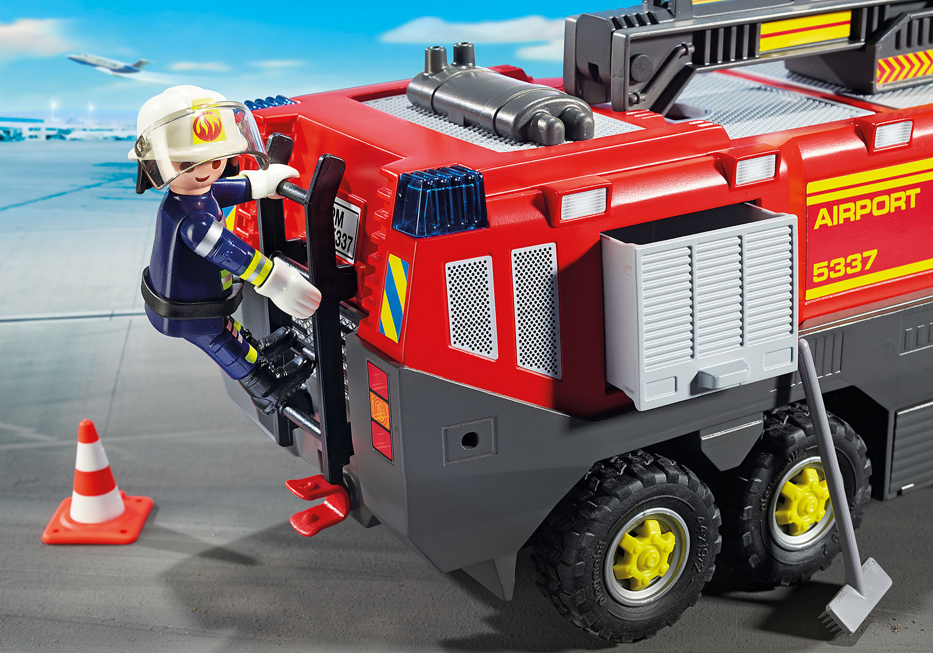 Airport Fire Engine With Lights And Sound 5337