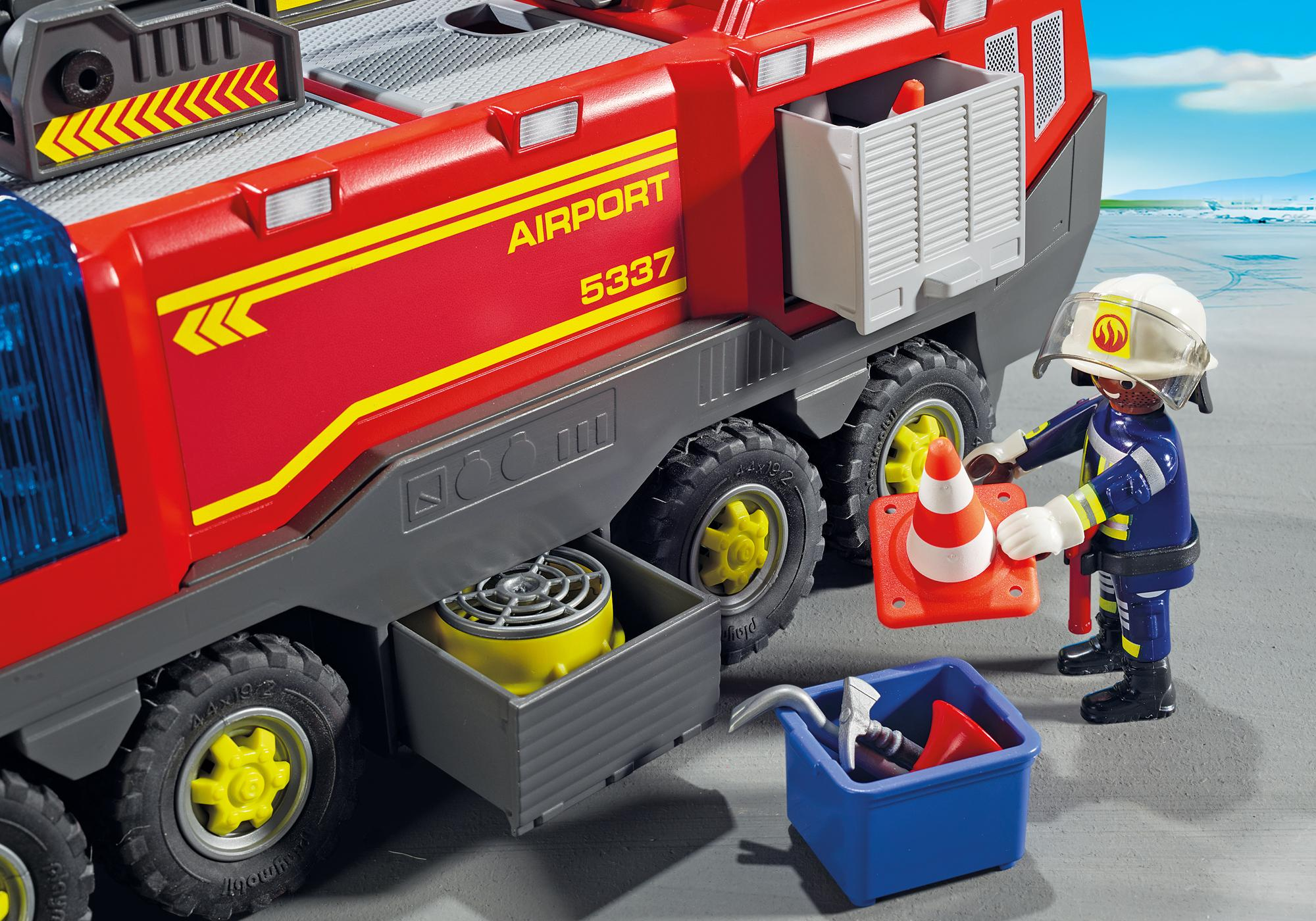 http://media.playmobil.com/i/playmobil/5337_product_extra3/Airport Fire Engine with Lights and Sound
