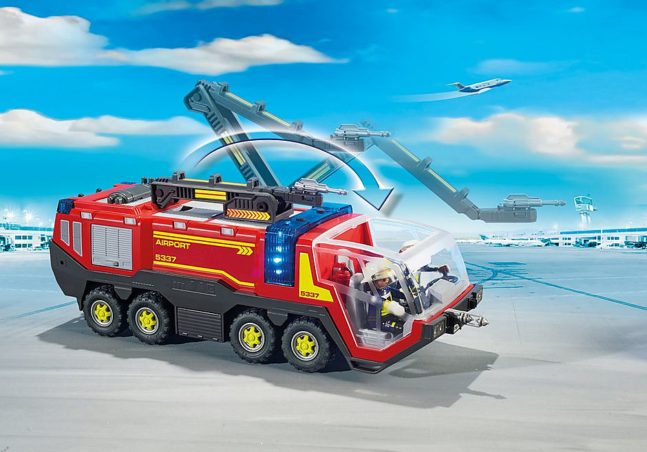 5337 Pompiers avec véhicule aéroportuaire detail image 8