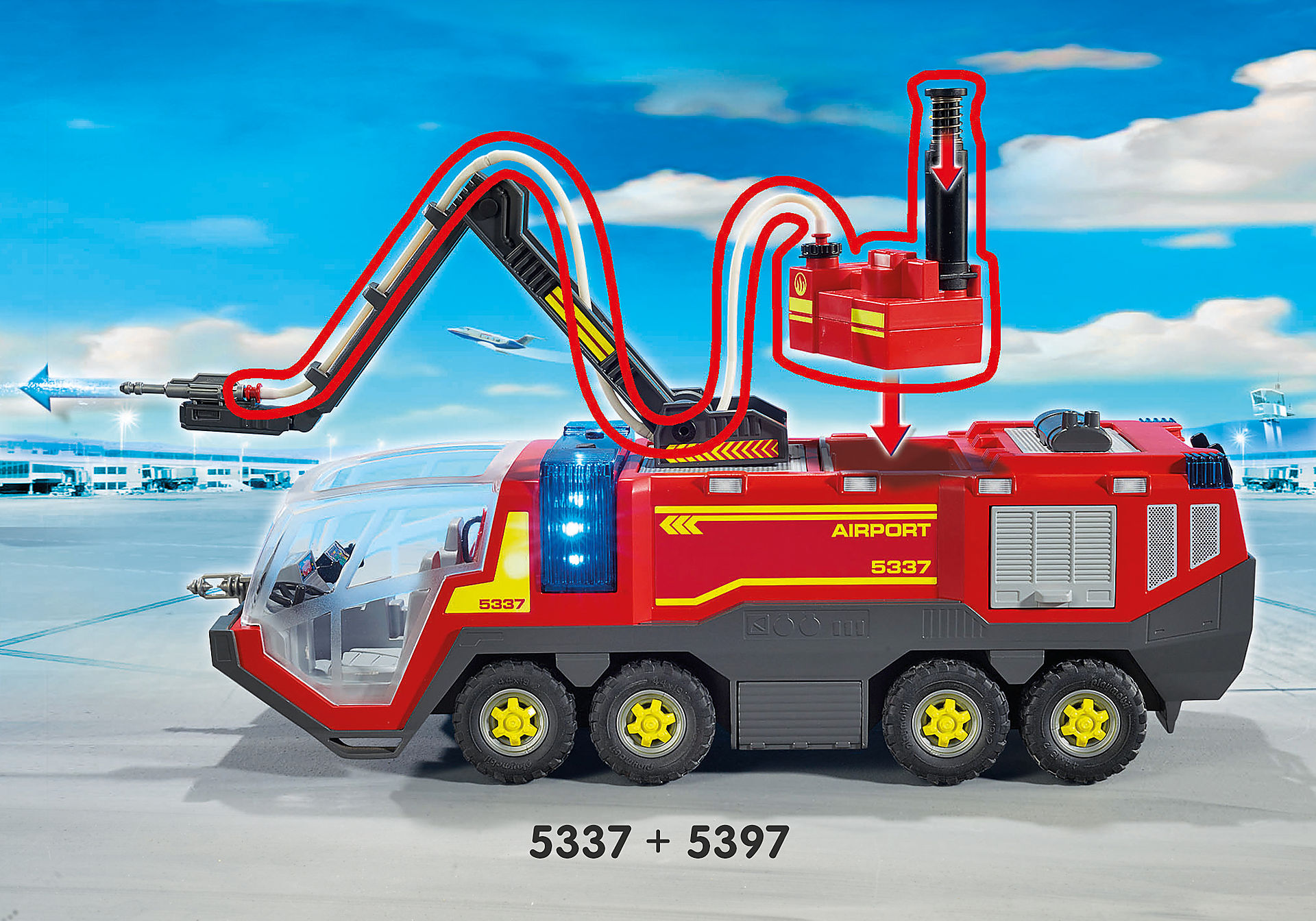 5337 Lufthavnsbrandbil med lys og lyd zoom image9