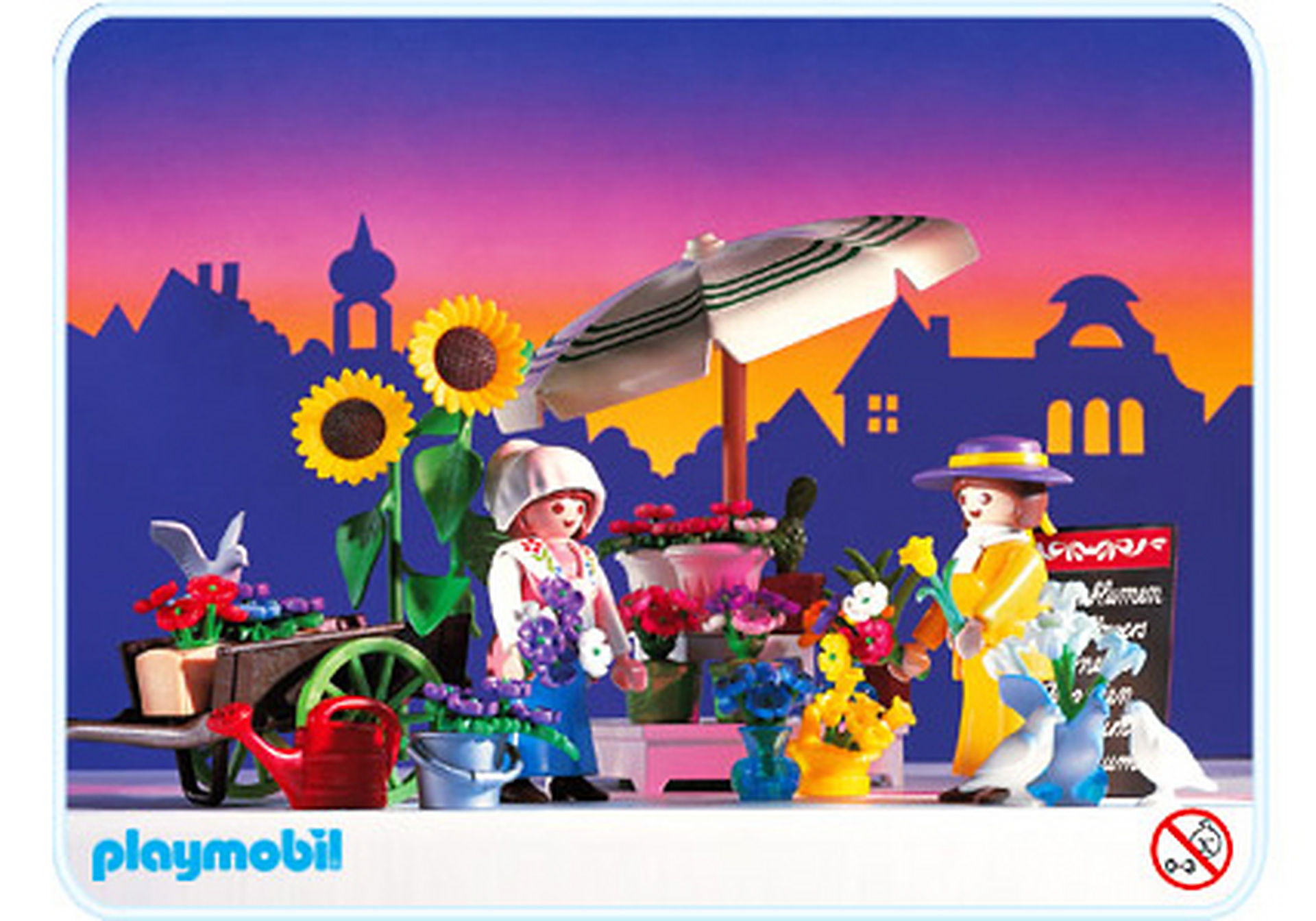 5343-A Marchande de fleurs / parasol zoom image1