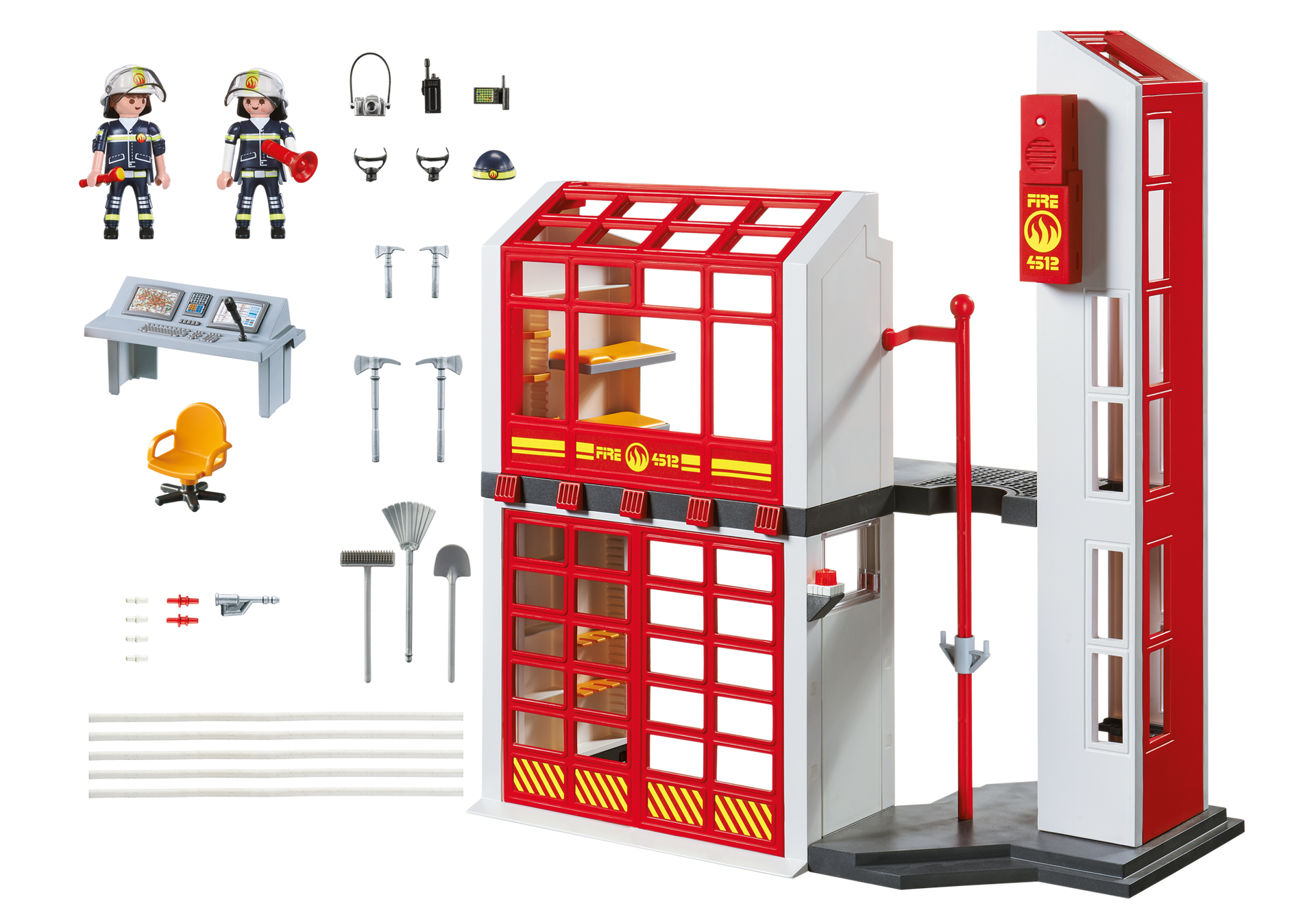 caserne de pompiers avec alarme 5361 playmobil france. Black Bedroom Furniture Sets. Home Design Ideas