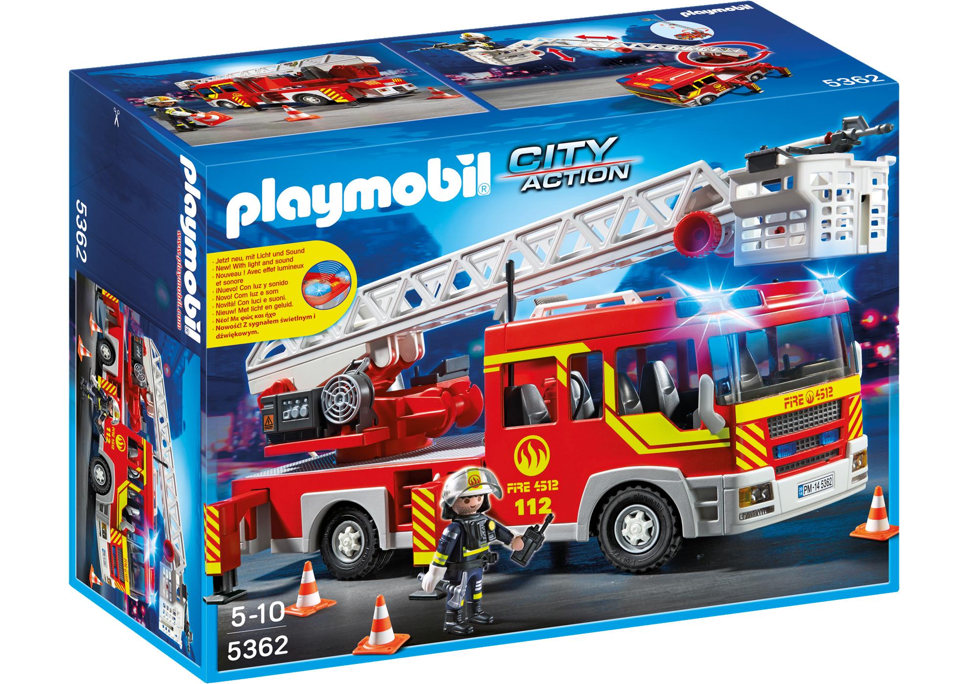 http://media.playmobil.com/i/playmobil/5362_product_box_front/Camión de Bomberos y Escalera con Luces y Sonido