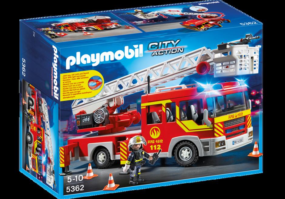 Camion de pompier avec chelle pivotante et sir ne 5362 - Camion de pompier a dessiner ...