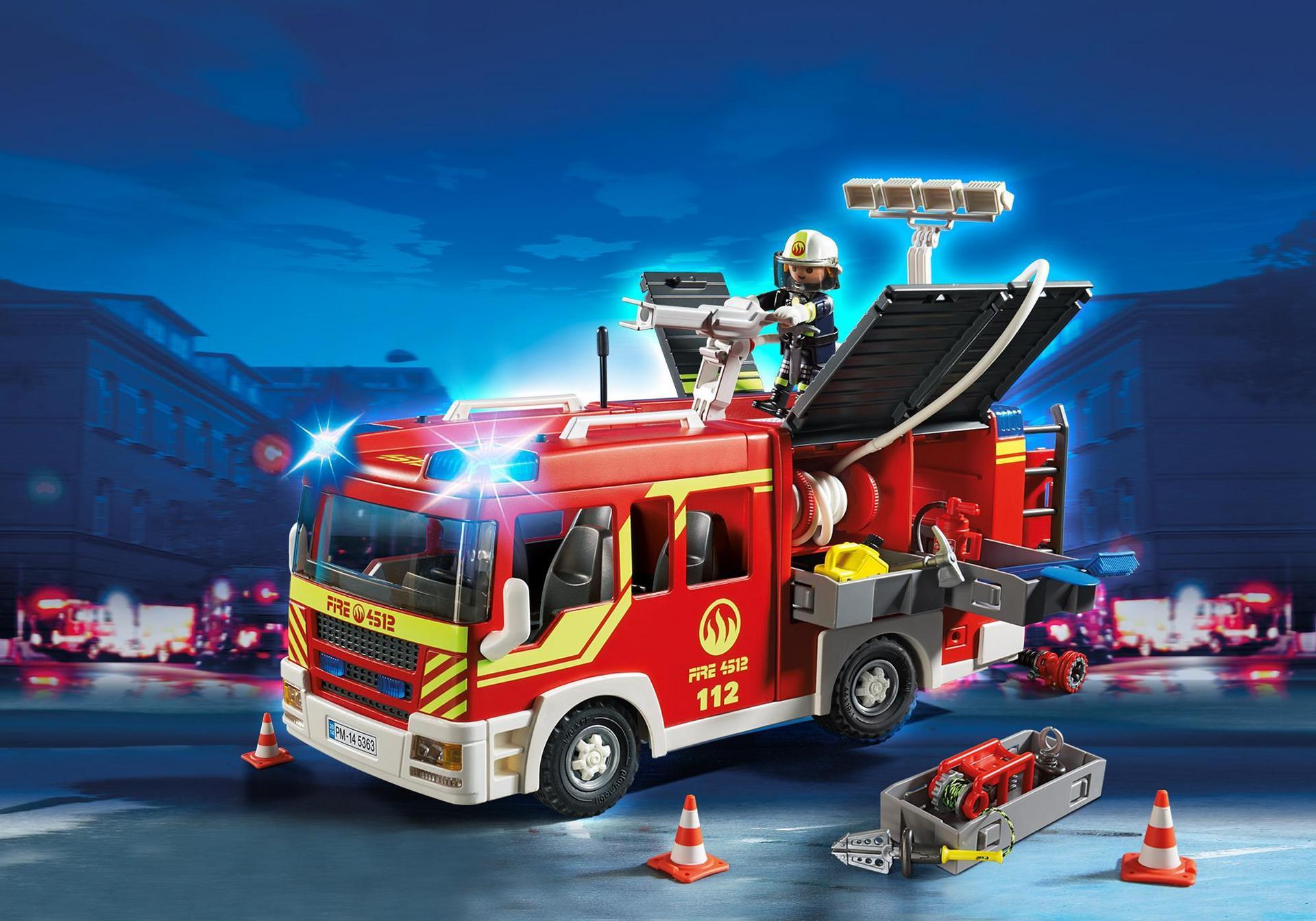 Camión de Bomberos con Luces y Sonido - 5363 - Playmobil® España