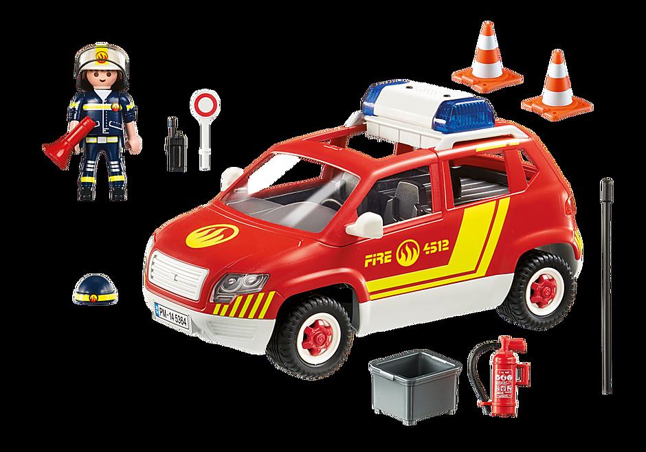 5364 Brandweercommandant met dienstwagen met licht en sirene detail image 4