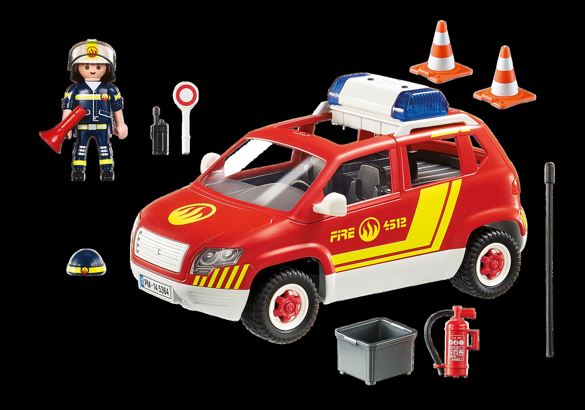 5364 Brandweercommandant met dienstwagen met licht en sirene zoom image4
