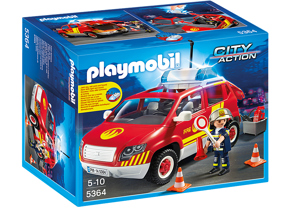 5364 Brandweercommandant met dienstwagen met licht en sirene detail image 3