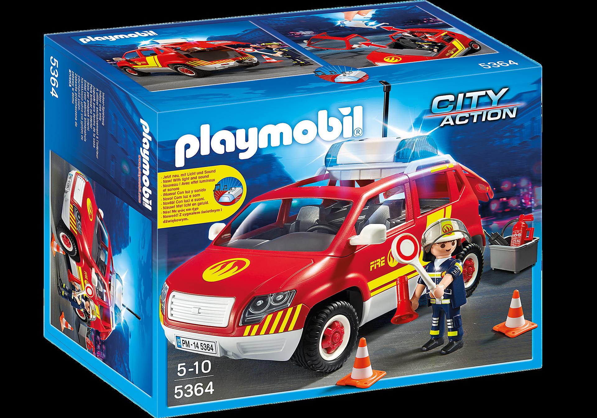 5364 Brandweercommandant met dienstwagen met licht en sirene zoom image3