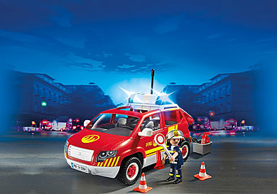 5364_product_detail/Brandweercommandant met dienstwagen met licht en sirene