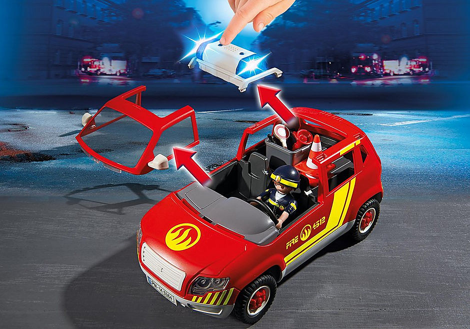 http://media.playmobil.com/i/playmobil/5364_product_extra1/Auto del caposquadra dei Vigili del fuoco