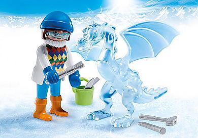 5374_product_detail/Künstlerin mit Eisskulptur